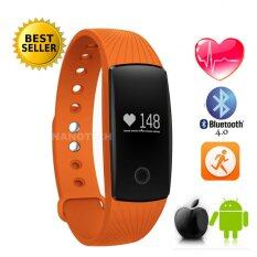 ซื้อ Nanotech 2016 Fitness Bluetooth Smart Wristband Heart Rate Monitor Fitbit Hr Activity Compatible With Android And Ios สีส้ม ออนไลน์