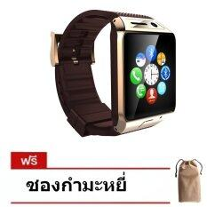 ซื้อ Nanotech New 2015 Red Hot Smart Watch Phone สมาร์ทวอช Simcard Call Sport And Healty Ns8 สีน้ำตาลทอง แถมฟรีซองกำมะหยี่