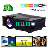 ขาย Nanotech Uc46 1200Lum Hd 800 480 Resolution 3D Home Projector Hdmi Sd Av Usb Support Ezcast Airplay For Ios Android Black เป็นต้นฉบับ