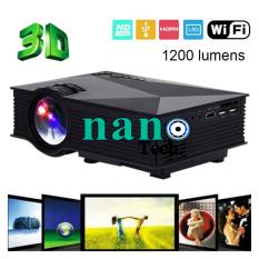 ซื้อ Nanotech Uc46 1200Lum Hd 800 480 Resolution 3D Home Projector Hdmi Sd Av Usb Support Ezcast Airplay For Ios Android Black ถูก