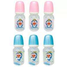 ขาย ซื้อ Natur Doraemon ขวดนม Pp ทรงกลม 4 ออนซ์ รุ่น 41001 6 ขวด ใน ไทย