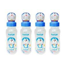 ซื้อ Natur Doraemon ขวดนมโดราเอม่อน Pp ทรงถั่ว 8 ออนซ์ ฝาครอบโดราเอม่อน รุ่น 40023 4 ขวด