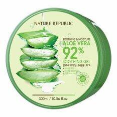 ราคา Nature Republic Moisturizing Aloe Vera Soothing Gel 99 300 Ml Korea ของแท้ 100 ถูก