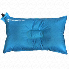 ส่วนลด Naturehike หมอนลม เป่าลม พกพา พองลมอัตโนมัติ Self Inflating Compressible Travel Camping Air Pillow สีฟ้า