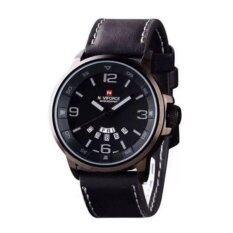Naviforce นาฬิกาข้อมือผู้ชาย สีดำ สายหนัง รุ่น Nf9028M ใหม่ล่าสุด