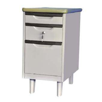NDL โต๊ะเหล็กเสริมข้างแบบมีขาตั้ง รุ่นTM-4 สีเทา