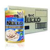 Nekko Tuna 70G X 48 Pouches อาหารแมวเน็กโกะ สูตรปลาทูน่าในเยลลี่ 70กรัม 48 ซอง เป็นต้นฉบับ