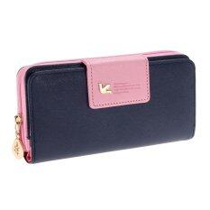ซื้อ New Arrival High Quality Women Wallet Brand Womens Bag Dark Blue ถูก