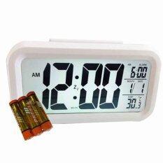 โปรโมชั่น New Mumbaby นาฬิกาปลุก ถ่าน สีขาว New Mumbaby ใหม่ล่าสุด