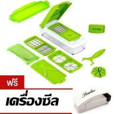 ขาย Nicer Dicer Plus อุปกรณ์สไลซ์ผัก ผลไม้อัจฉริยะ สีเขียว ฟรี เครื่องซีล Thailand
