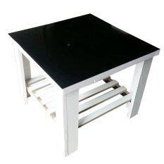 Nk Furniline โต๊ะกาแฟ โต๊ะกลางโซฟา โต๊ะข้าง รุ่นTcoffee55X55S สีขาว ดำ เป็นต้นฉบับ