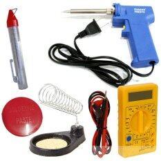 ราคา Nke ชุดเครื่องมือช่างอิเล็คทรอนิกส์ หัวแร้ง ที่วาง ตะกั่ว น้ำยาประสานบัดกรี ดิจิตอลมัลติมิเตอร์ Nke ใหม่