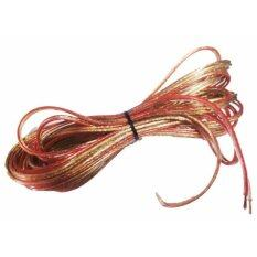 โปรโมชั่น Nke Audio สายลำโพงใส20เมตร ลวดทองแดง O D 4 X 8 Mm ถูก