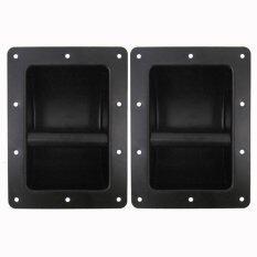 ขาย หูจับตู้ลำโพงเหล็กBlack Metal Recessed Pa Dj Speaker Bar Handles แพ็ค2ตัว ไทย ถูก