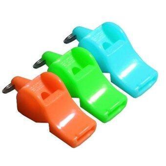 นกหวีด สำหรับเป่า ให้สัญญาณ ฝึกซ้อม คละสี 3 อัน Whistle