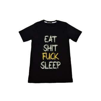 NOLOGO เสื้อยืด รุ่น Eat Shit (สีดำ)-