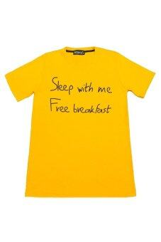 NOLOGO เสื้อยืด รุ่น Sleep with me (สีเหลือง)