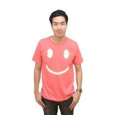 ขาย Nologo เสื้อยืด รุ่น Smilely สีชมพู