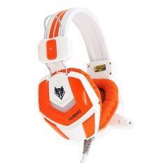 NUBWO หูฟัง รุ่น No-4000 (สีขาว+ส้ม)
