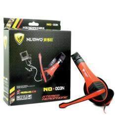 ราคา Nubwo หูฟังมัลติมีเดียพร้อมไมค์ รุ่น No 003N สีแดง Nubwo เป็นต้นฉบับ