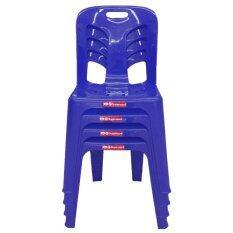 ขาย Oa Furniture เก้าอี้พลาสติก Superware รุ่น Ch 50 4 ตัว สีน้ำเงิน ออนไลน์