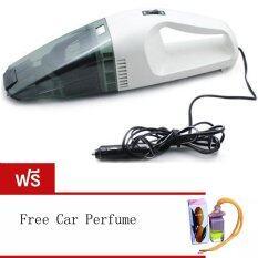 ราคา 60W Wet And Dry Portable Car Vacuum Cleaner เครื่องดูดฝุ่นในรถยนต์ Black White Free Car Perfume Orange ใหม่