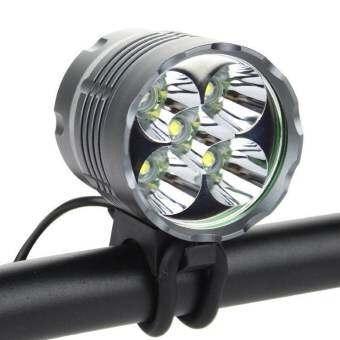 ไฟจักรยาน 7000Lm LED CREE XM-L 5x T6 +Battery Pack + Charger (สีดำ)-