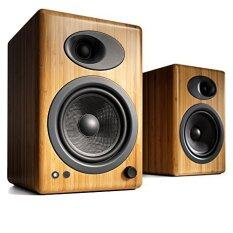 Audioengine 5+ Powered Bookshelf Speakers ลายไม้