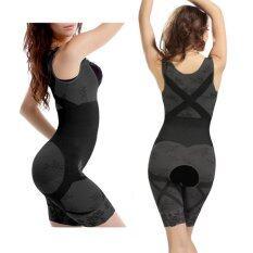 ซื้อ Be Charming ชุดกระชับสัดส่วนจากเยื่อไผ่ สีดำ Bamboo Charcoal Slimming Bodysuit ใหม่