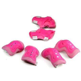 ชุดป้องกัน 6 ชิ้น สำหรับเด็ก สีชมพู 3-10 ขวบ