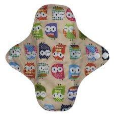 ซื้อ Cloth Pad ผ้าอนามัยซักได้ สีครีมลายนกฮูก ออนไลน์ ถูก