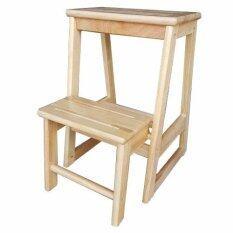 ราคา เก้าอี้บันไดไม้ยาง พับเก็บได้ สำหรับหยิบของ สีธรรมชาติ Unbranded Generic ใหม่