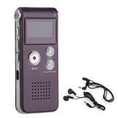 โปรโมชั่น เครื่องบันทึกเสียง 8Gb Mini Usb Digital Voice Recorder 650Hr Dictaphone Mp3 Player Wine Unbranded Generic