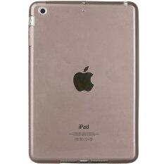 เคสไอแพดแอร์1 Transparent Soft TPU Back Case Cover Skin Shell for Apple iPad Air1 (Black)
