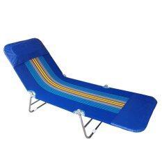 ขาย ซื้อ เตียงสนาน 3 พับ เตียงผ้าใบ ปรับเอนนอนได้ 3 ระดับ สีน้ำเงิน กรุงเทพมหานคร