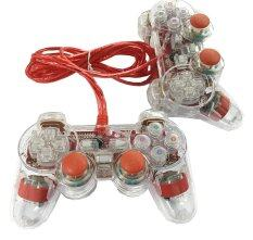 Joy Stick คู่ Dual Shock Controller (Red)