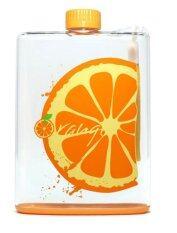 ราคา ขวดน้ำพกพา แบบแบน 350 Ml Orange ใหม่