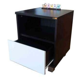 Kiti Shop ตู้ล๊อกเกอร์ ตู้ข้างเตียง ตู้เก็บของ 2 ชั้น รุ่น Box 2 (สีลายไม้โอ๊ด)-