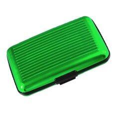 โปรโมชั่น กระเป๋าอลูมิเนียม ใส่บัตรเครดิตการ์ด นามบัตร Atm สีเขียว ถูก