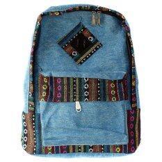 ราคา กระเป๋าเป้ผ้าใบ สีฟ้า Unbranded Generic Thailand