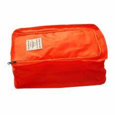 โปรโมชั่น กระเป๋ารองเท้า D Pocket สีส้ม ถูก