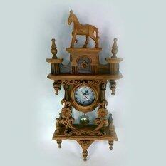 นาฬิกาไม้สัก สีไม้แท้ ถูก