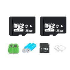 OMG 128GB Micro SD Card Class 10 Fast Speed+Micro SD Adapter+USB Micro SD Card Adapter+SD Case Box+OTG (2ชุด)