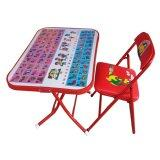 ราคา โต๊ะเก้าอี้นักเรืยน พับเหล็ก รุ่นหน้าเหล็ก กขค สีแดง ใหม่ล่าสุด
