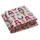 ซื้อ ผ้าแคนวาส แบบหนา 100 เซนติเมตร ลายตุ๊กตาล้มลุก N 48 Canvas Fabric สีชมพู ออนไลน์