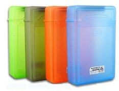 """Plastic Hard Disk Protective Case with Label *4 BOX 3.5"""" (Gray,Green, Red , Cyan)"""