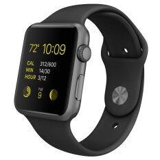 สายรัดข้อมือสำหรับ Apple Watch ขนาด 38มม ซิลิลโคน (ดำ)