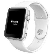 สายรัดข้อมือสำหรับ Apple Watch ขนาด 42มม ซิลิลโคน (ขาว)