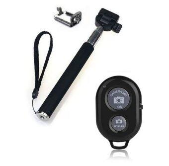 Selfie Handheld 2 in 1 ไม้เซลฟี่ พร้อม รีโมทชัตเตอร์(Black)