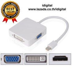 Thunderbolt Mini Display Port To Hdmi / Vga / Dvi 3 In 1 สำหรับ Macbook/